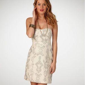 American Eagle Shimmer Jacquard Strapless Dress 4